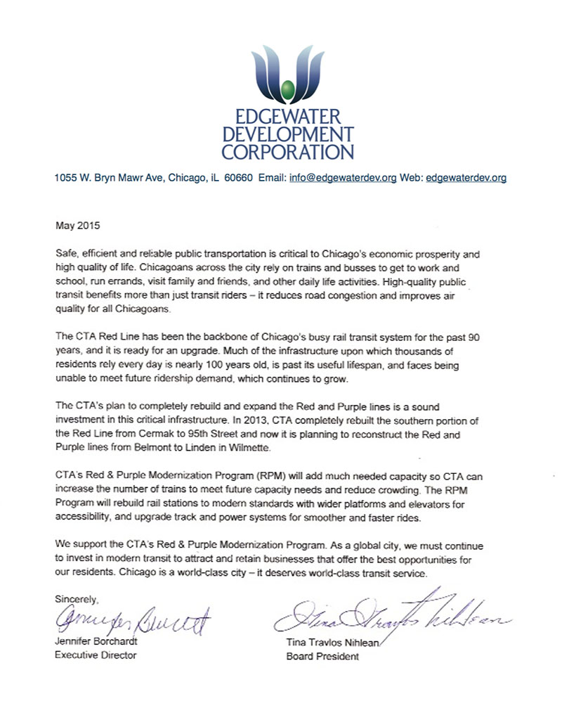 EDC Letter Of Support