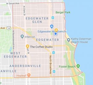 Map of Edgewater, Chicago