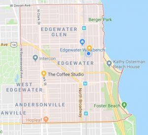 Map of Edgewater, Chicago